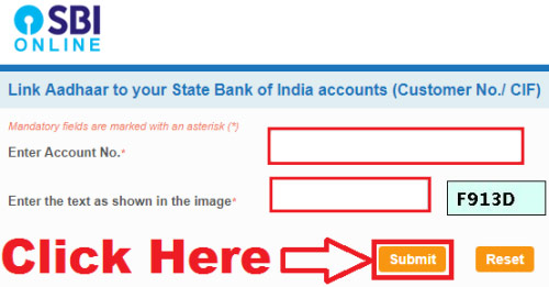 how to link aadhaar card with sbi bank online