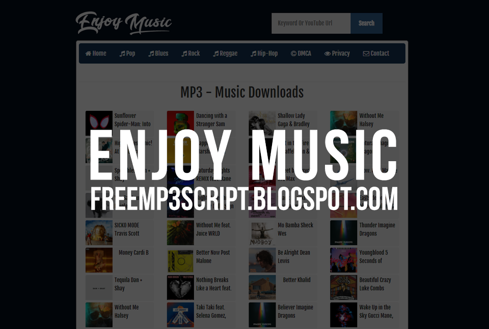 Enjoy Music Simple MP3 Script & Youtube Grabber (No API Key