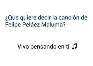 Significado de la canción Vivo Pensando En Ti Felipe Peláez Maluma.