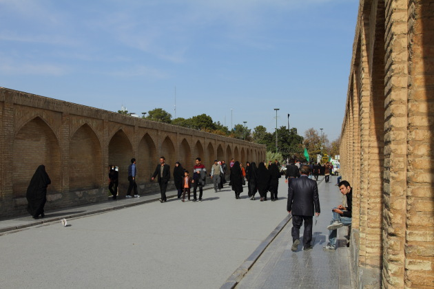 Street Action on one of Isfahan's famous bridges