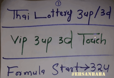Thai Lottery VIP Touch Digit Tips For 01 November 2018