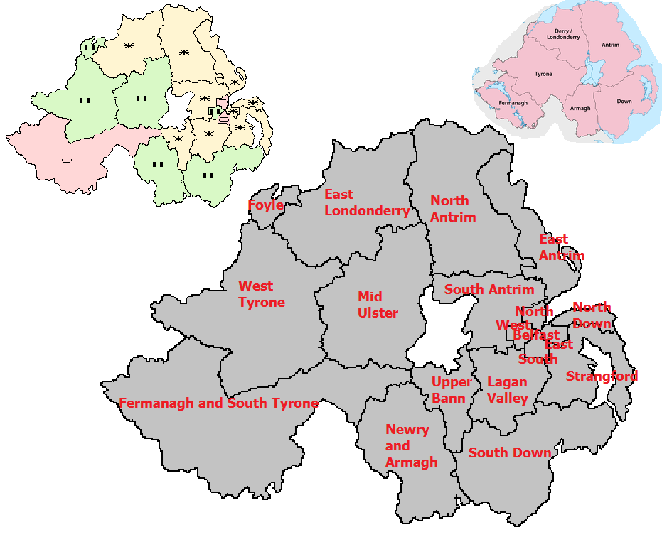 Map Of North And South Ireland.Teddy On Politics Northern Ireland Map And Independents