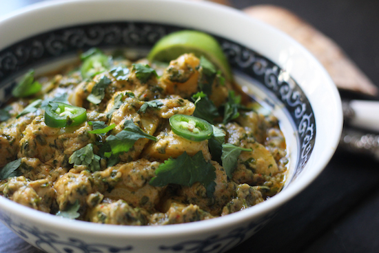Thai potato peanut curry