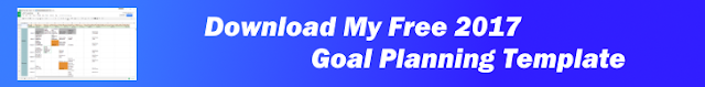 Click to download my free 2017 goal planning template