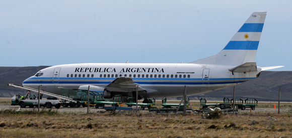 Boeing 737 500 flota presidencia argentina comprado aerolíneas argentinas