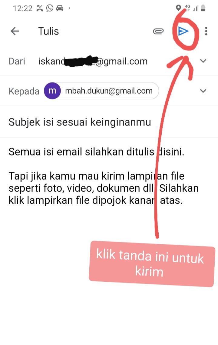 Cara Mengirim Email Lewat HP