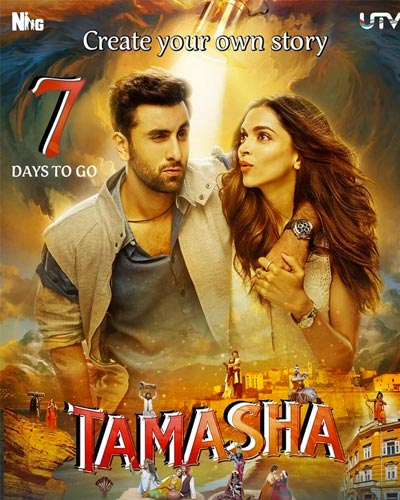 Poster Of Tamasha 2015 Hindi 400MB BRRip 480p Free Download Watch Online