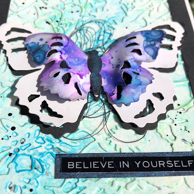 Tim Holtz Sizzix Tattered Butterfly Distress Oxide Sprays Alcohol Pearls Tutorial by Sara Emily Barker https://frillyandfunkie.blogspot.com/2019/03/saturday-showcase-tim-holtz-tattered.html 22