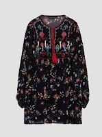 Robe à Pompons Brodée Zara