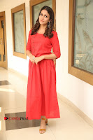 Actress Lavanya Tripathi Latest Pos in Red Dress at Radha Movie Success Meet .COM 0261.JPG