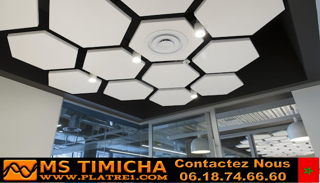Platre plafond café maroc
