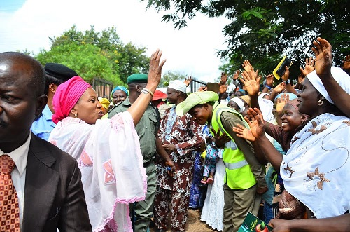 Gov. Aregbesola's wife donates gifts received during husband's 60th birthday to women