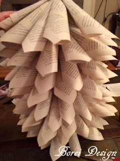 completed-recycled-book-page-paper-mini-Christmas-tree-tutorial-diy-home-decor