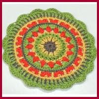 Mandala fácil a crochet