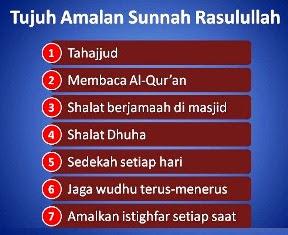 7 Amalan Sunnah Nabi Muhammad Saw