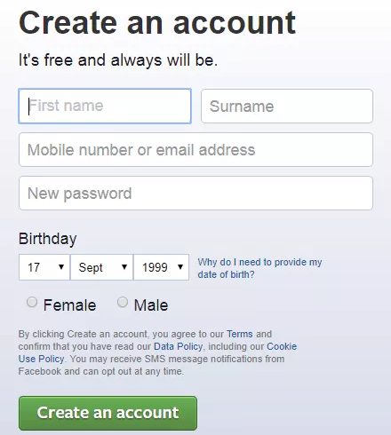 Open Facebook Login Account