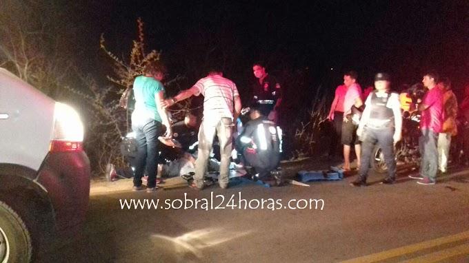 Tentativa de assalto termina em grave acidente de trânsito na estrada do distrito do Bonfim