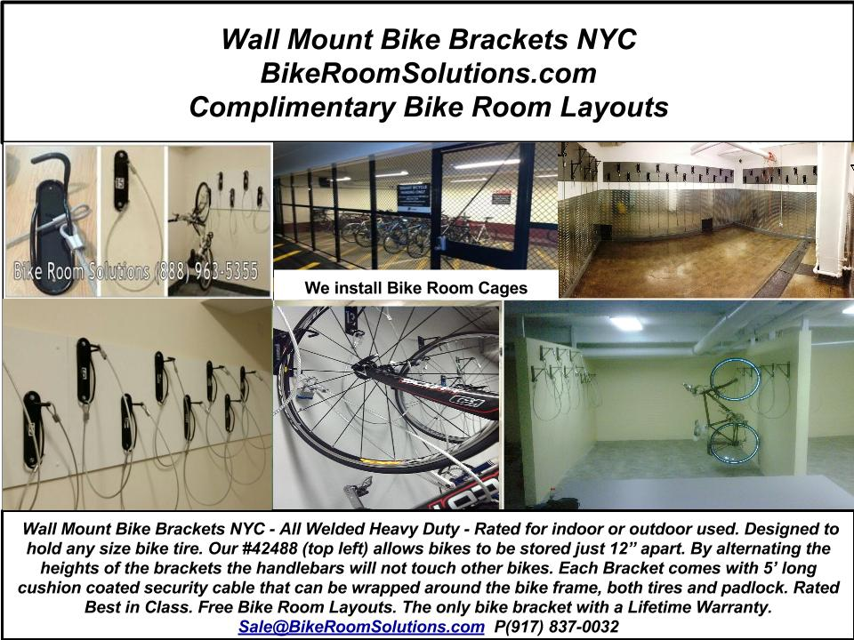 click on picture to enlarge. Wall Mount Bike Brackets NYC. & How NYC Stores and Secures Expensive Bikes | Wall Mount Bike Racks ...