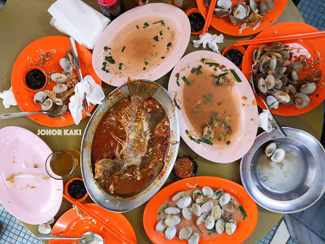 JB Hidden Seafood Gem. San Lou Cafe (Not Restaurant) for Teochew Home Cooking 三楼咖啡屋