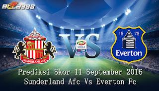 Agen Bola Terpercaya - Prediksi Skor Sunderland Afc Vs Everton Fc 13 September 2016