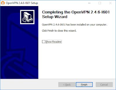 OpenVPN - установка завершена
