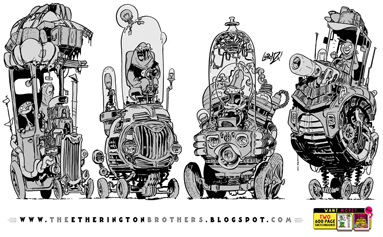 http://studioblinktwice.deviantart.com/art/4-very-TALL-vehicles-595212978