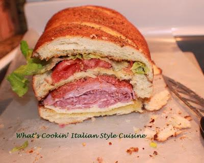 Antipasto Submarine Salad Sandwich