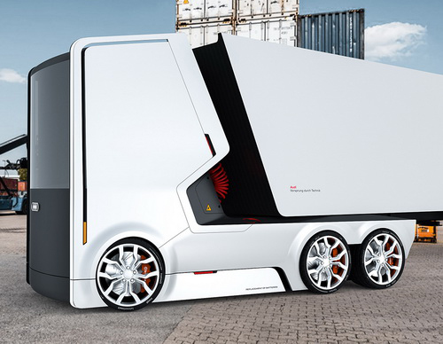 Tinuku Dua Proposal Konsep Desain Truk Elektrik Futuristik Membawa Brand Audi