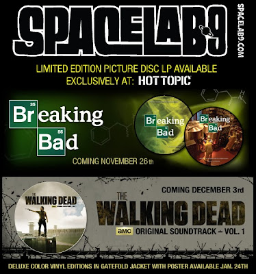 The Walking Dead & Breaking Bad Soundtracks on Limited Edition Picture Disc LPs by Spacelab9