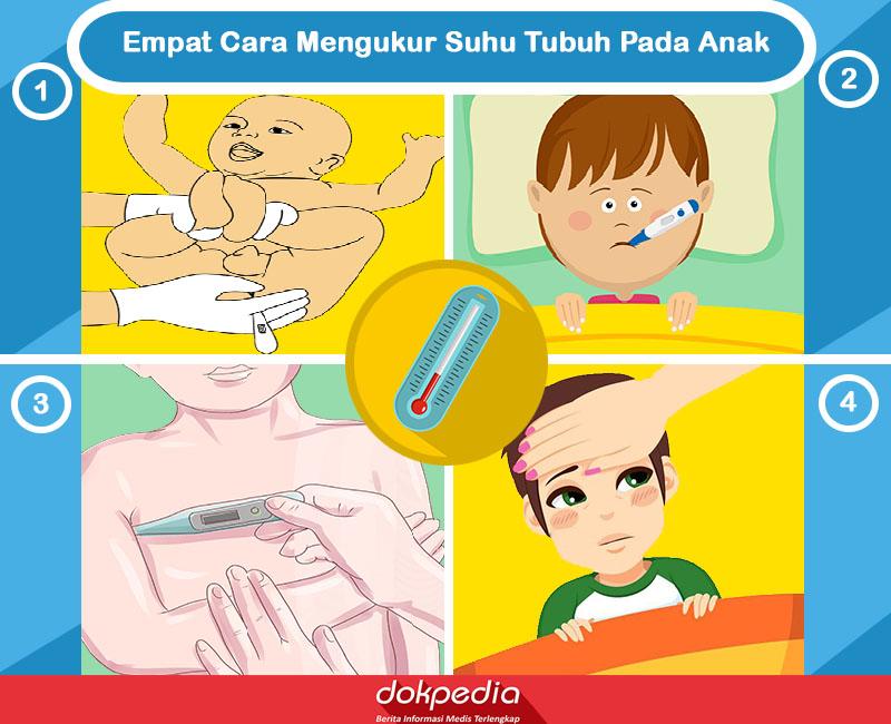 empat cara memeriksa suhu tubuh pada anak