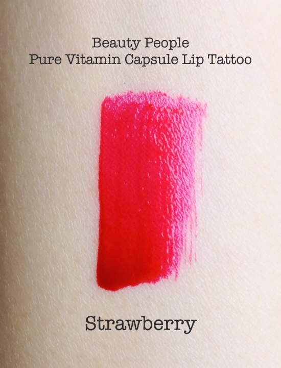 Beauty People Lip Tattoo Strawberry swatch