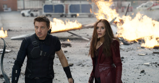 Jeremy Renner and Elizabeth Olsen, seeing what they hath wreaked