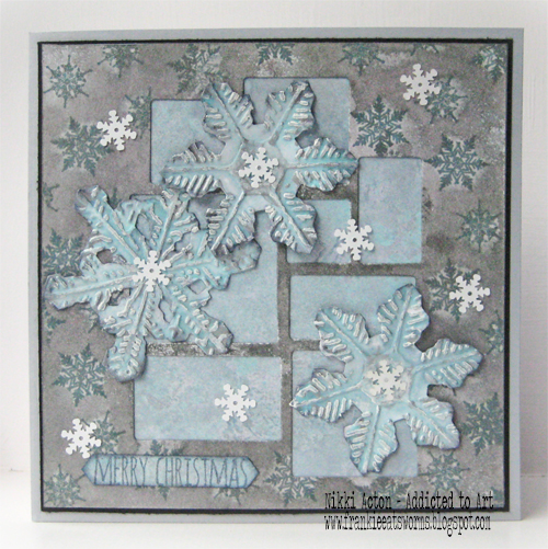 Tim Holtz Christmas Mosaic and Snowflake dies