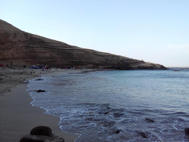 Playa La Mina, desierto de Paracas