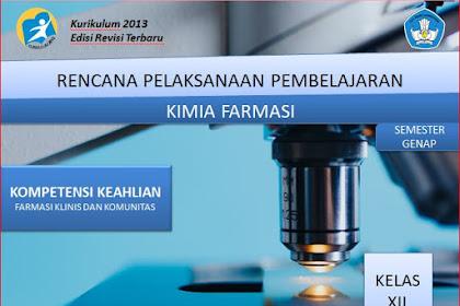 RPP Kimia Farmasi Kelas XII SMK/MAK Kurikulum 2013 Revisi 2018 Semester Genap