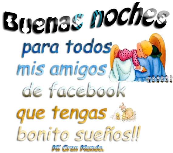 Buenas Noches amigos Facebook