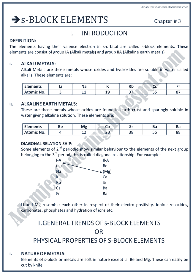 block elements pdfs s chemistry
