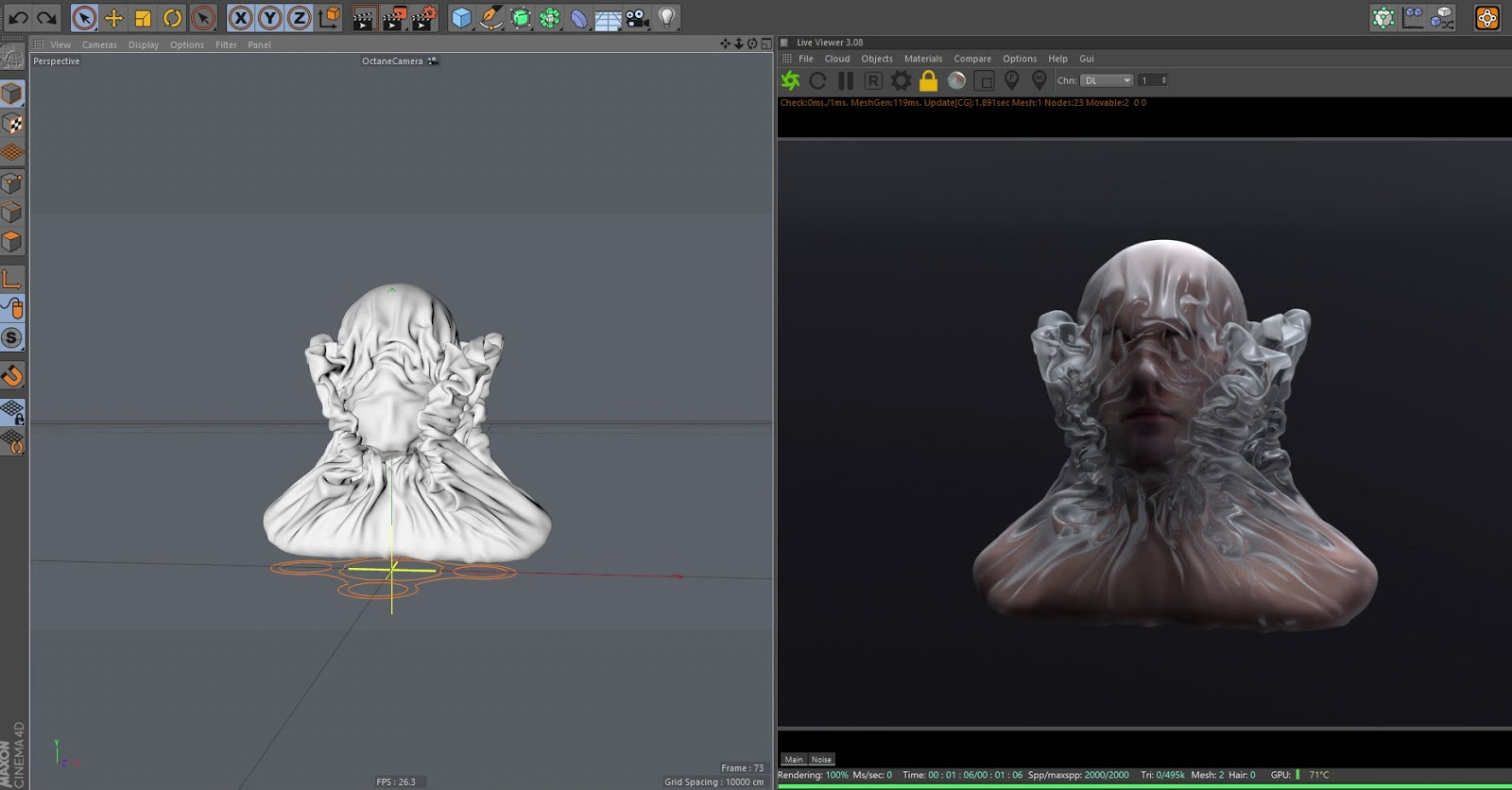 Creating Shrink Plastic Wrap using X-Particles | CG TUTORIAL