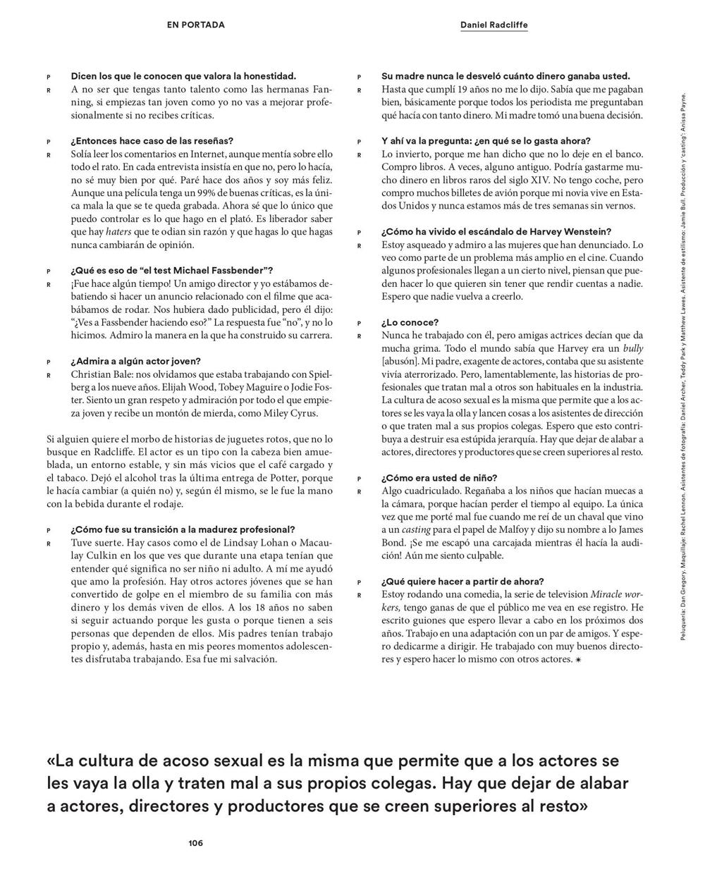 Updated(3): Icon El País magazine photoshoot (Spain