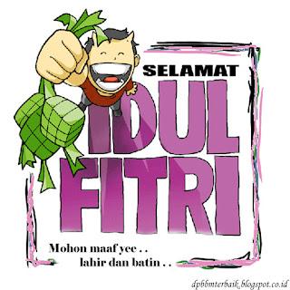 DP BBM Ucapan Selamat Hari Raya Idul Fitri 1437 H  lucu, imut terbaru