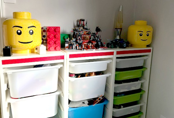 A Lego Themed Room With Mayka Toy Block Tape