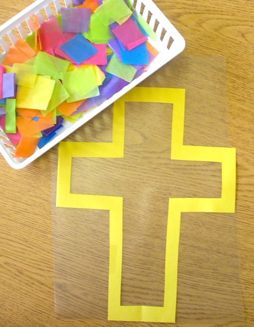 Tutorial for Stain Glass Cross Window Decoration