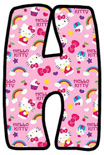 Abecedario de Hello Kitty en Fondo Rosa. Pink Alphabet with Hello Kitty.