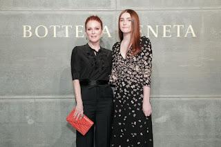 Julianne Moore with her daughter At Bottega Veneta Show At New York Fashion Week 2018
