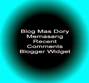 Gambar Recent Comments Blogger Widget oleh Mas Dory