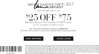 Lane Bryant coupons march 2017