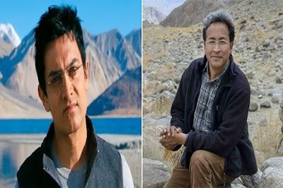 3 इडियट्स' के आमिर खान को नहीं, असली सोनम वांगचुक को रोलेक्स अवॉर्ड