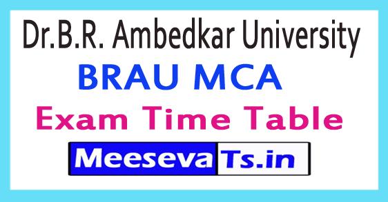 Dr.B.R. Ambedkar University BRAU MCA Exam Time Table 2017