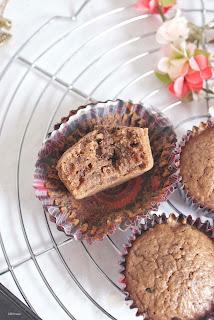 podwójnie czekoladowe muffinki