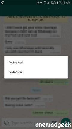 Video calling with WhatsApp 2 16 318 [Beta - Tested]
